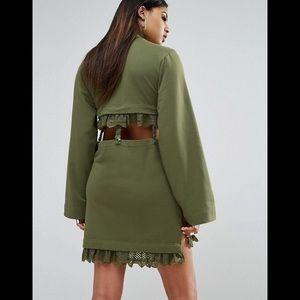 Puma Dresses - PUMA X Fenty Olive Kimono Sleeve Suspender Dress